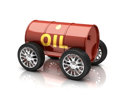 nafta: petroleum fuels vehicle 3d concept Stock Photo