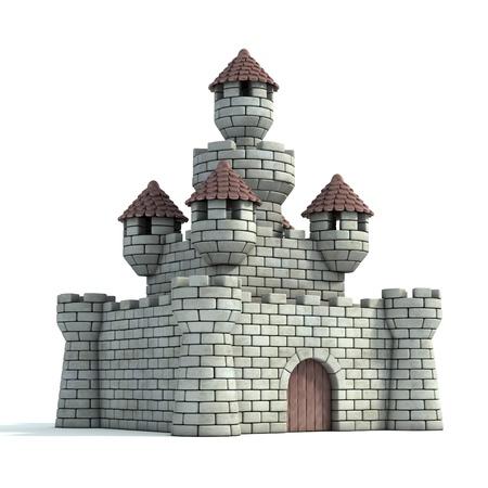 toy house: castle 3d illustration