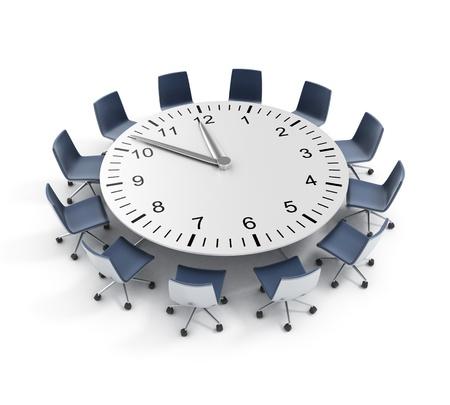 sala de reuniones: fecha límite de la mesa redonda