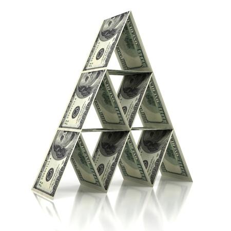 Dollar-Haus der Karten