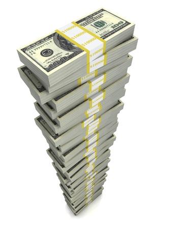 pile papier: Pile de dollars