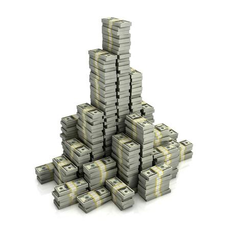 Piles du dollar Banque d'images