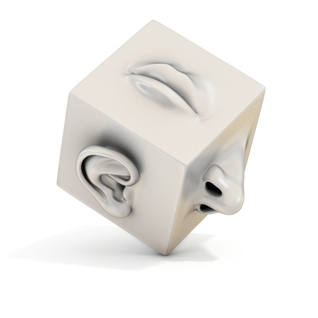 neus: mond neus oor abstracte 3d illustratie