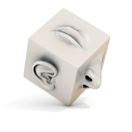 nariz: nariz o�do abstracta 3d Foto de archivo