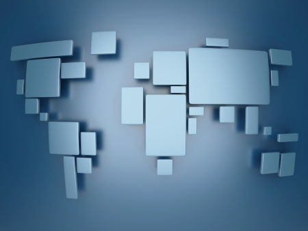 business backgound: abstract simplified world map