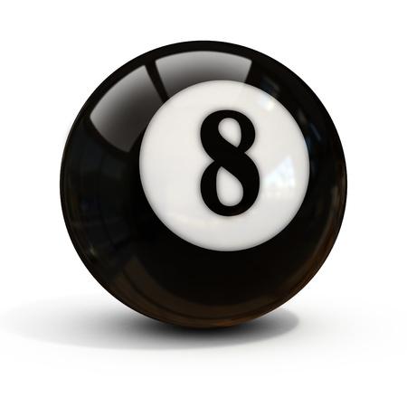 bola ocho: bola ocho aislados en blanco