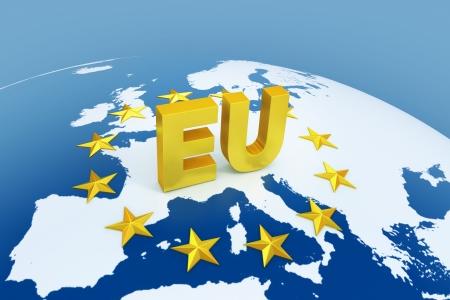 european union 3d illustration illustration