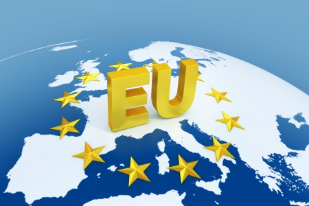 european union: european union 3d illustration