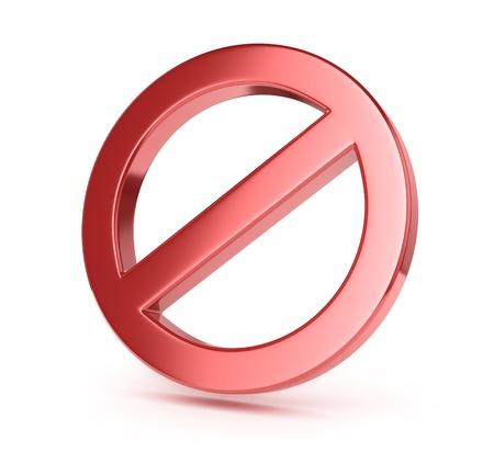 allowed: forbidden sign Stock Photo