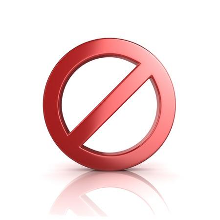 interdiction: Signe interdit Banque d'images