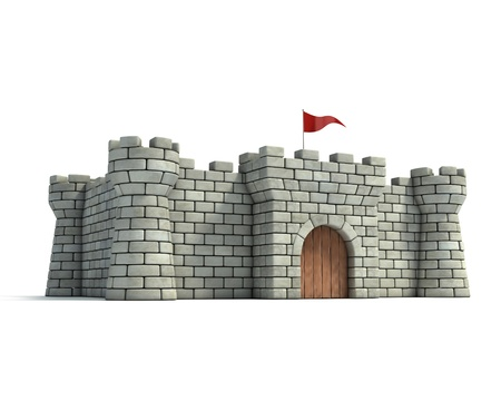 moat wall: fort 3d illustration