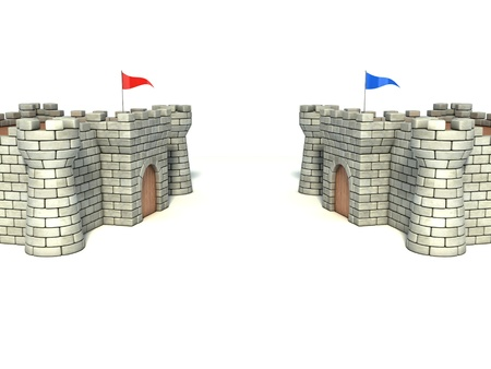 citadel: two strongholds Stock Photo