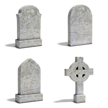 gravestone set Stock Photo - 19776453