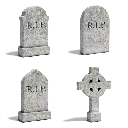 tomb empty: gravestone set