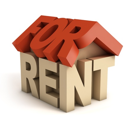 for rent: house for rent 3d icon
