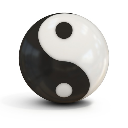 ying yan: yin yang sphere Stock Photo