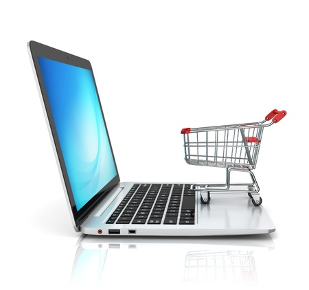 e store: online shopping 3d concept Stock Photo