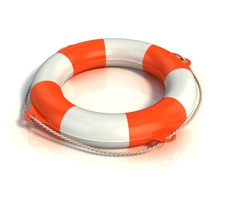 life guard: lifebuoy isolated on white
