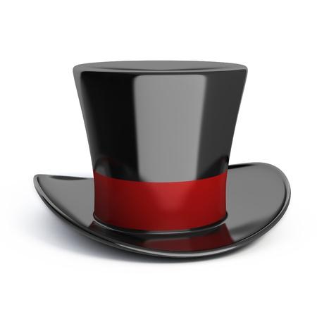 magical equipment: magic hat isolated Stock Photo