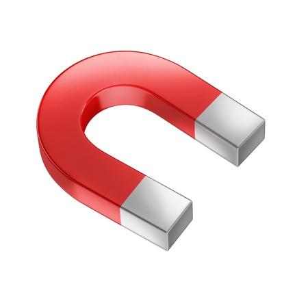 magnetize: horseshoe magnet isolated on white Stock Photo