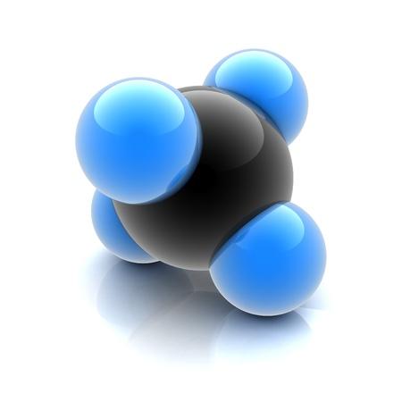 quimica organica: molécula de metano