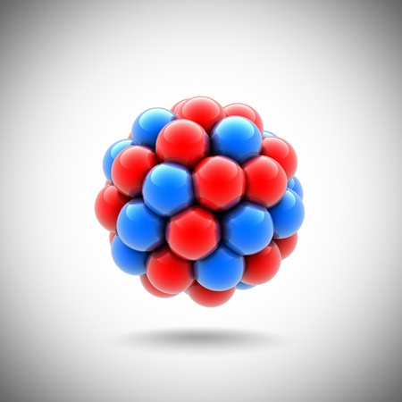 nuclear fission: atomic nucleus Stock Photo