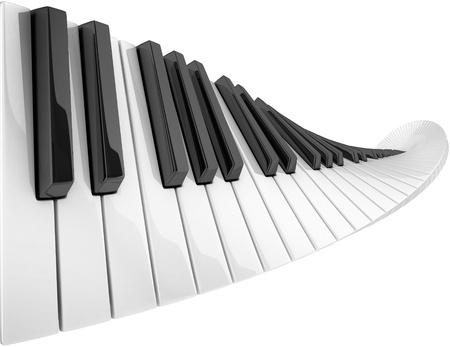 piano: abstract piano keyboard wave