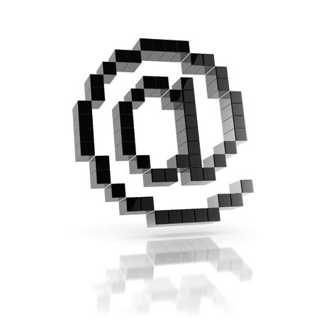At sign e-mail 3d icon photo