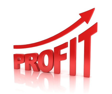 profit graph with arrow Stock Photo - 19775861