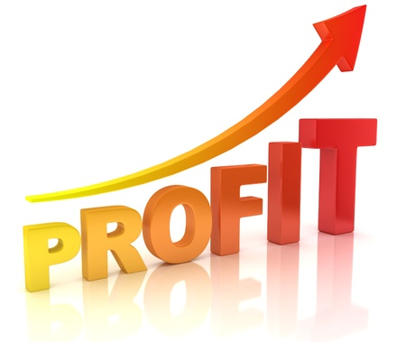 profit graph with arrow Stock Photo - 19775919