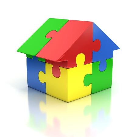 home loans: casa di puzzle 3d