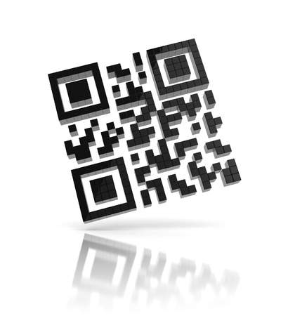 QR code 3d icon photo