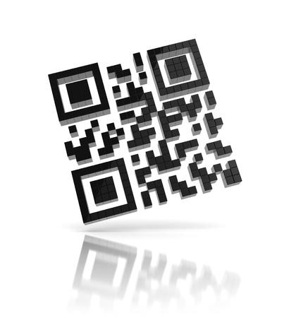 scanning: QR code 3d icon