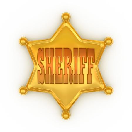 sheriff badge: insignia del sheriff Foto de archivo