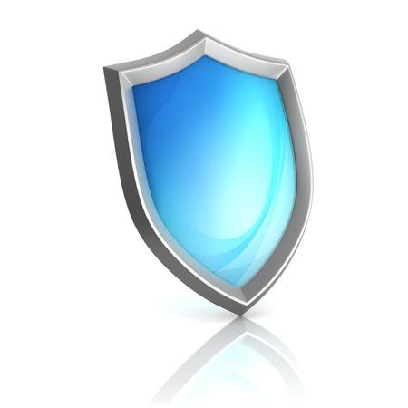 anti virus: shield 3d icon