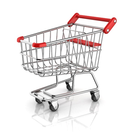 chrome cart: shopping cart Stock Photo