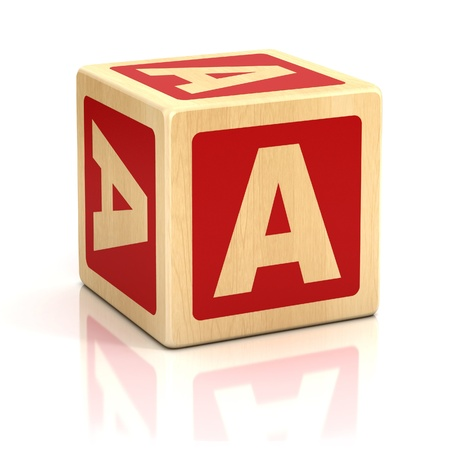 letter a alphabet cubes font photo