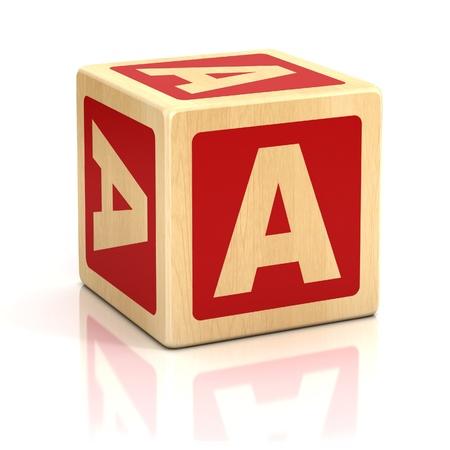 abstract 3d blocks: letter a alphabet cubes font