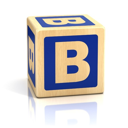 letter b alphabet cubes font photo