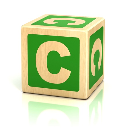 letter c alphabet cubes font Stock Photo - 19775933