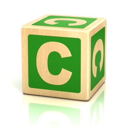 lettre c alphabet cubes police