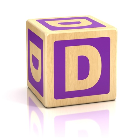 letter d alphabet cubes font Stock Photo - 19775984