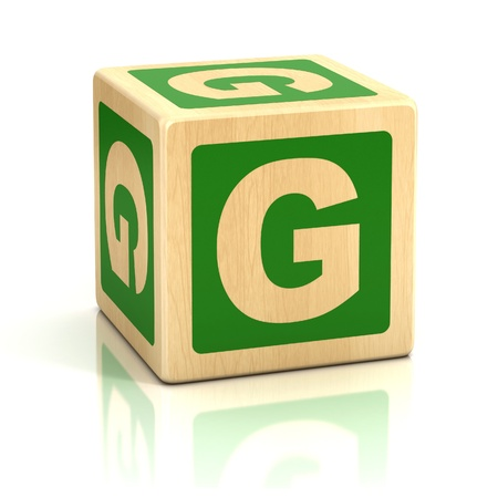 letter g alphabet cubes font Stock Photo - 19776015