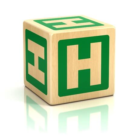 h: letter h alphabet cubes font
