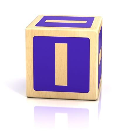 baby blocks: letter i alphabet cubes font