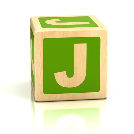 baby blocks: letter j alphabet cubes font