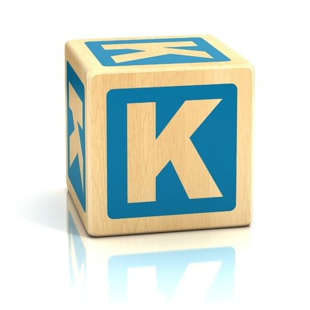 letter k alphabet cubes font photo