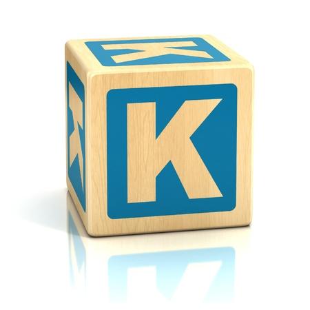 letter k: letter k alphabet cubes font Stock Photo