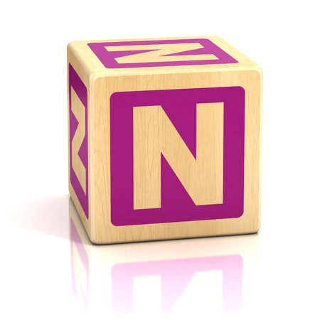 letter n alphabet cubes font Stock Photo - 19775945