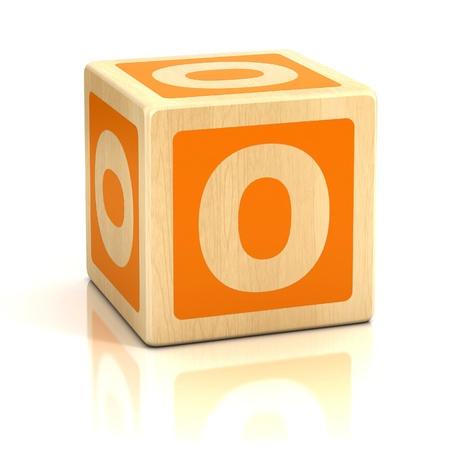 abstract 3d blocks: letter o alphabet cubes font